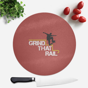 Grind That Rail Round Chopping Board