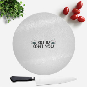 Rice To Meet You Round Chopping Board