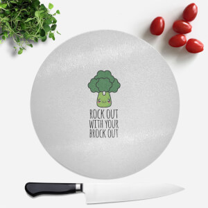 Rock Out With Your Brock Out Round Chopping Board