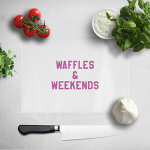 Waffles And Weekends Chopping Board