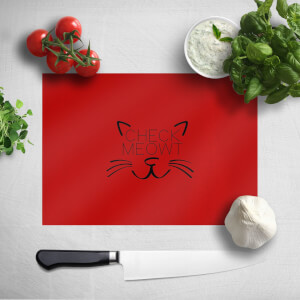 Check Meowt Chopping Board