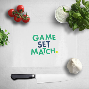 Game Set Match Chopping Board