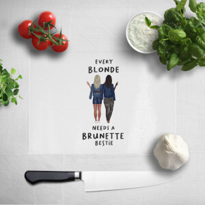 Pressed Flowers Every Blonde Needs A Brunette Bestie Chopping Board