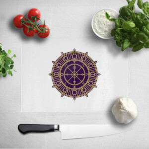 Pressed Flowers Wheel Of Fortune Chopping Board