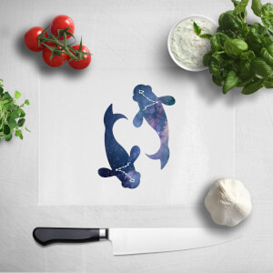 Pressed Flowers Pisces Chopping Board