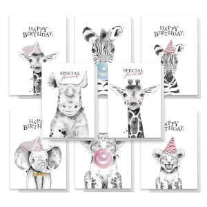 Animals Pack Of Greetings Cards