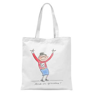 Rock On Grandma Tote Bag - White