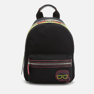 Karl Lagerfeld Women's K/Ikonik Neon Backpack - Black