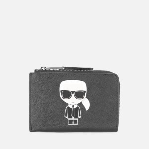Karl Lagerfeld Women's K/Ikonik Zip Card Holder - Black