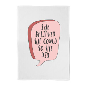 The Motivated Type Speech Bubble Cotton Tea Towel - White