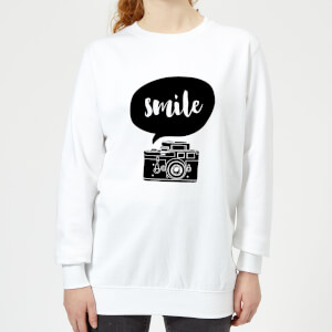The Motivated Type Smile For The Camera Women's Sweatshirt - White