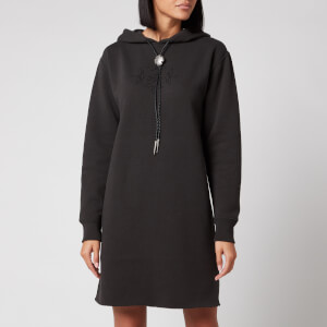 Polo Ralph Lauren Women's Hooded Sweatshirt Dress - Black Mask