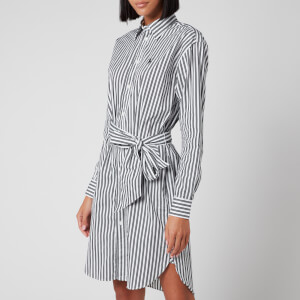 Polo Ralph Lauren Women's Shirt Dress - White/Black