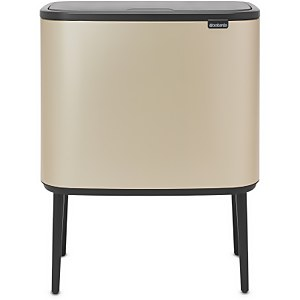 Brabantia Bo 11 and 23 Litre Touch Bin - Champagne