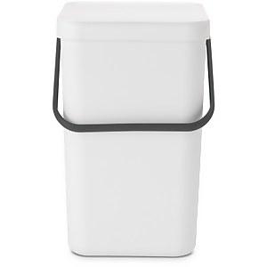 Brabantia Sort & Go 25 Litre Waste Bin - White