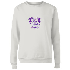 The Powerpuff Girls Thunderbolts Sweater Women's Sweatshirt - White