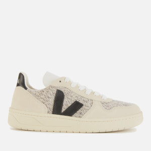Veja Women's V-10 Flannel Trainers - Snow/Black