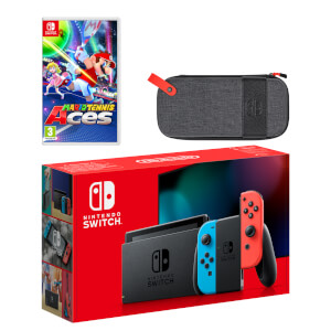 Nintendo Switch (Neon Blue/Neon Red) Mario Tennis Aces Pack