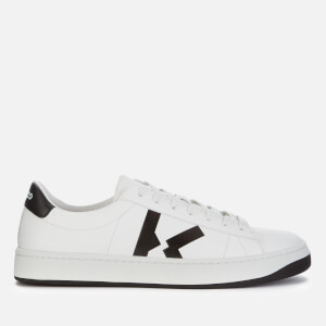 KENZO Men's Logo Leather Low Top Trainers - White