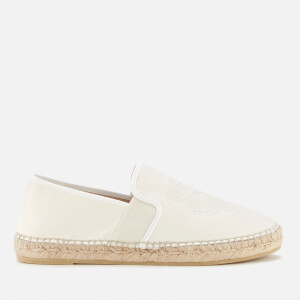 KENZO Women's Tiger Head Elastic Espadrilles - Off White