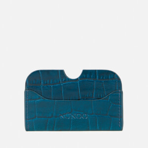 Núnoo Women's Carla Croco Card Holder - Navy