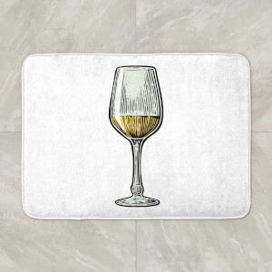 White Wine Bath Mat