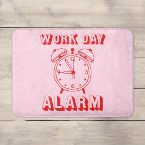 Work Day Alarm Bath Mat