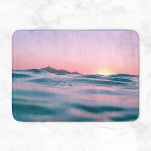Sunset With Water Bath Mat