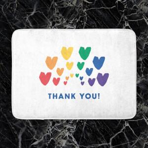 Thank You Rainbow Hearts Bath Mat