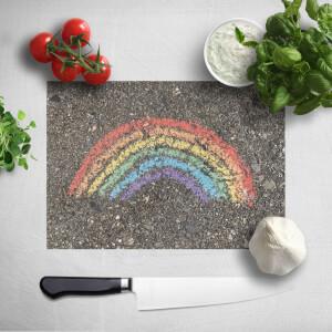 Chalk Rainbow Chopping Board