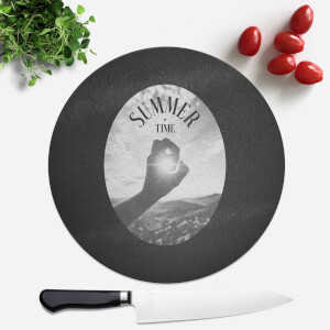 Summer Time Round Chopping Board