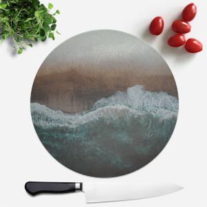 Moody Ocean Round Chopping Board
