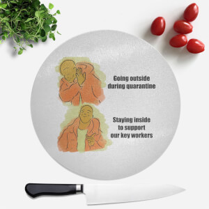 Key Worker Meme Round Chopping Board