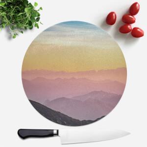 Rainbow Horizon Round Chopping Board