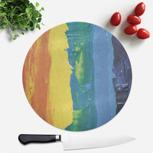 Acrylic Rainbow Round Chopping Board