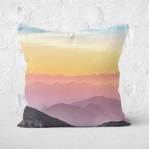 Rainbow Horizon Square Cushion