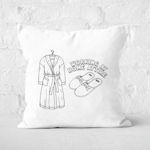 Working At Home Attire Square Cushion