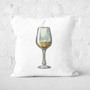 White Wine Square Cushion