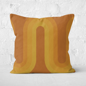 Yellow Groove Square Cushion