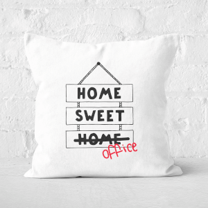 Home Sweet Office Square Cushion