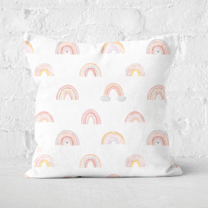 Rainbow Pattern Square Cushion