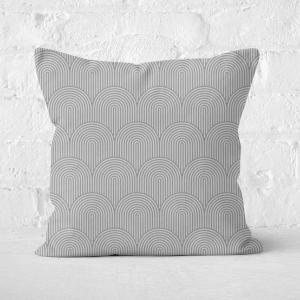 Trippy Rainbow Grey Square Cushion