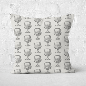 Whisky Glass Pattern Square Cushion