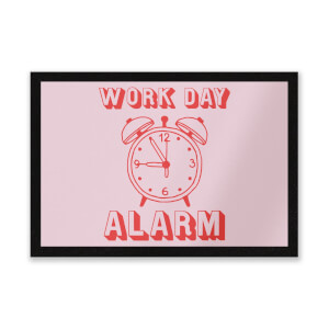 Work Day Alarm Entrance Mat