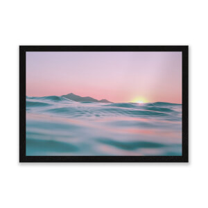 Sunset With Water Entrance Mat
