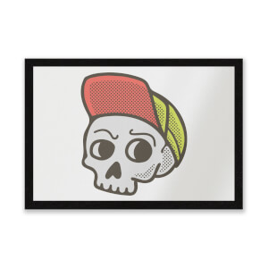 Baseball Cap Skull Entrance Mat