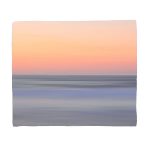 Sunset Orange Blue Fleece Blanket