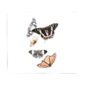 Isolated Butterflies Fleece Blanket