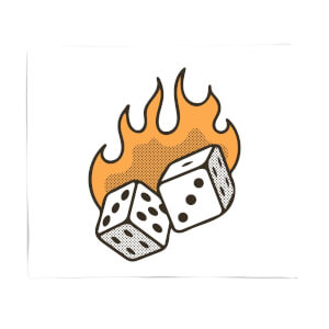 Flaming Dice Fleece Blanket