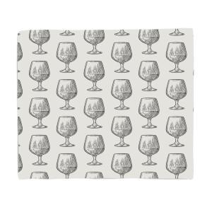 Whisky Glass Pattern Fleece Blanket